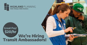 We're Hiring Transit Ambassadors!